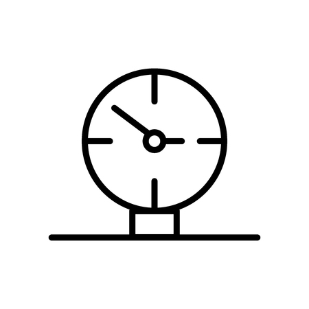 Wall clock icon vector isolated on white background, Wall clock transparent sign , line and outline elements in linear style