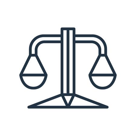 Balance icon vector isolated on white background, Balance transparent sign Illustration