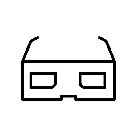 3d glasses icon vector isolated on white background, 3d glasses transparent sign , line and outline elements in linear style