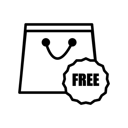 Free icon vector isolated on white background, Free transparent sign , line or linear sign, element design in outline style Stock Illustratie
