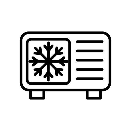 Kühlsymbolvektor isoliert auf weißem Hintergrund, Kühltransparentes Zeichen, Linien- und Umrisselemente im linearen Stil Vektorgrafik