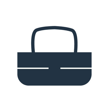 Handbag icon vector isolated on white background, Handbag transparent sign