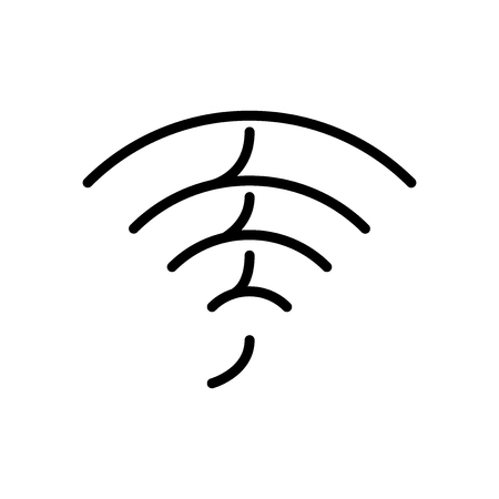 Wifi icon vector isolated on white background, Wifi transparent sign , line and outline elements in linear style