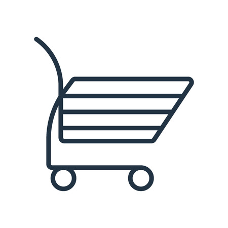 Shopping cart icon vector isolated on white background, Shopping cart transparent sign Illustration
