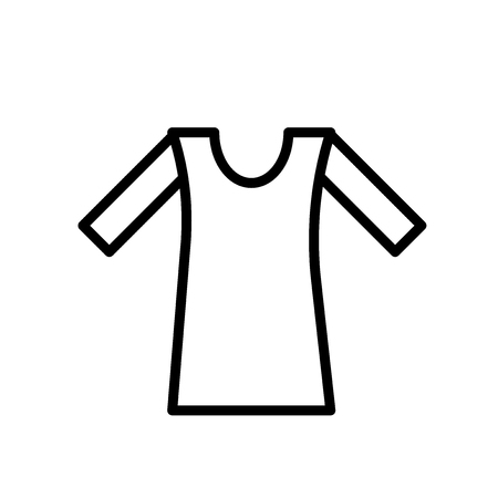 Shirt icon vector isolated on white background, Shirt transparent sign , line or linear sign, element design in outline style 写真素材 - 107129282