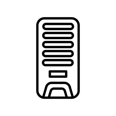 Vector icono de enfriador de aire aislado sobre fondo blanco, signo transparente de enfriador de aire, elementos de línea y contorno en estilo lineal Ilustración de vector