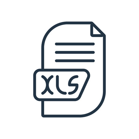 Xls icon vector isolated on white background, Xls transparent sign Illustration