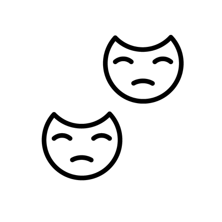 Mask icon vector isolated on white background, Mask transparent sign , line and outline elements in linear style Ilustração