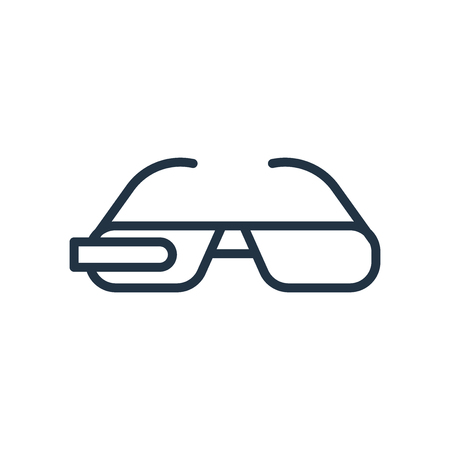 smart glasses icon vector isolated on white background