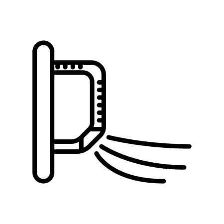 Air conditioner pictogram vector geïsoleerd op een witte achtergrond, Air conditioner transparante teken-, lijn- en overzicht elementen in lineaire stijl Vector Illustratie