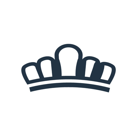 Tiara icon vector isolated on white background, Tiara transparent sign