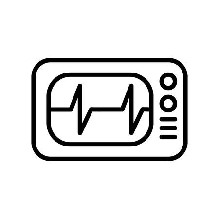 Cardiogram icon vector isolated on white background, Cardiogram transparent sign , line and outline elements in linear style Illustration