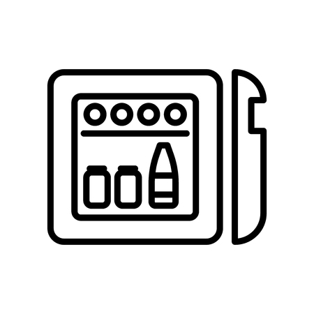 Minibar icon vector isolated on white background, Minibar transparent sign , line and outline elements in linear style Ilustração