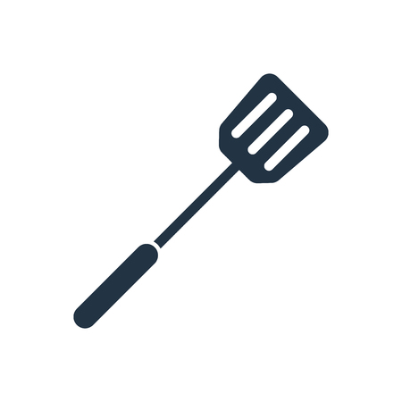 Spatula icon vector isolated on white background, Spatula transparent sign Stock Illustratie