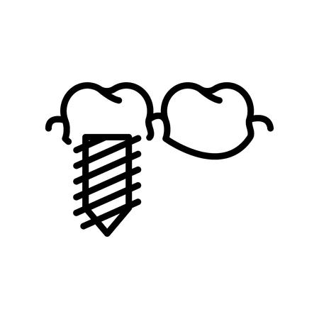 Implantate Symbol Vektor isoliert auf weißem Hintergrund, Implantate transparentes Zeichen, Linien- und Umrisselemente im linearen Stil