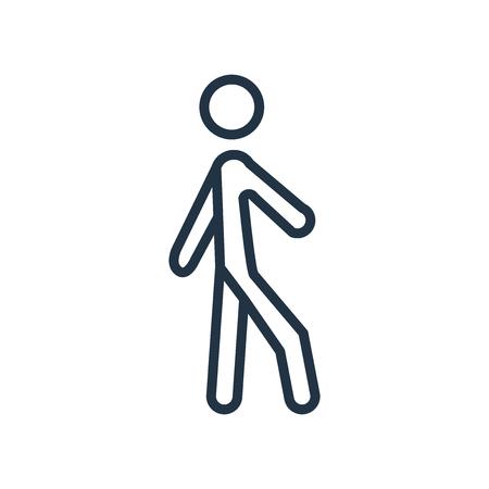 Walking icon vector isolated on white background, Walking transparent sign Illustration