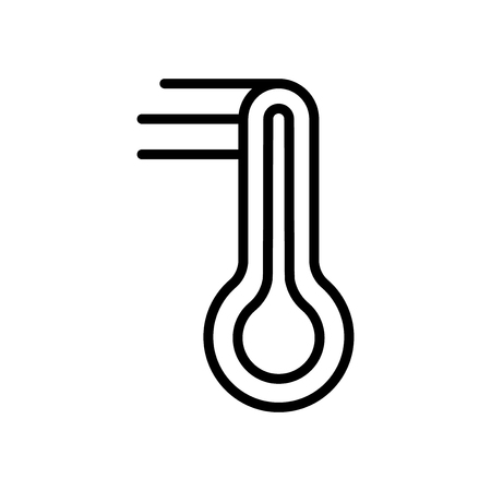 Thermometer icon vector isolated on white background, Thermometer transparent sign , line and outline elements in linear style
