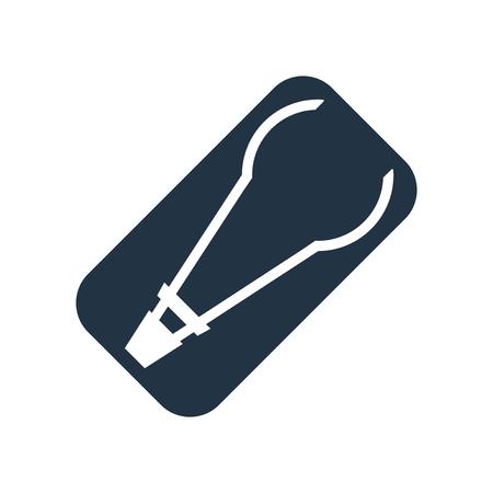Zange Symbol Vektor isoliert auf weißem Hintergrund, Zange transparentes Zeichen Vektorgrafik