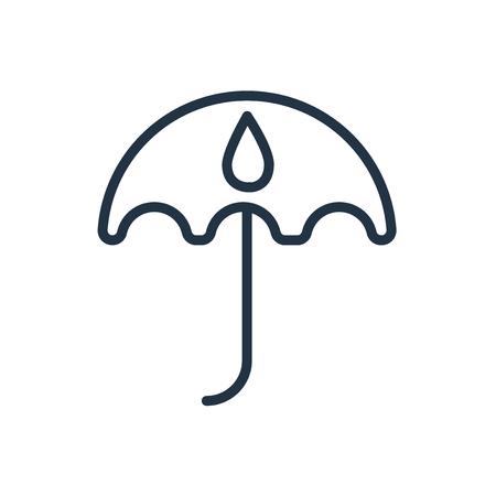 Umbrella icon vector isolated on white background, Umbrella transparent sign