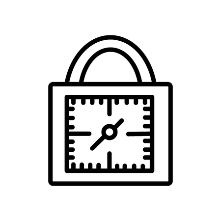 Padlocks icon vector isolated on white background, Padlocks transparent sign , line and outline elements in linear style