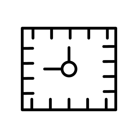 Alarm clock icon vector isolated on white background, Alarm clock transparent sign , line and outline elements in linear style Stock Illustratie