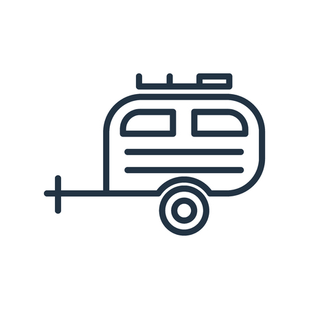 Camper icon vector isolated on white background, Camper transparent sign