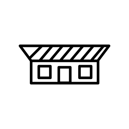Bungalow icon vector isolated on white background, Bungalow transparent sign , line or linear sign, element design in outline style Illustration
