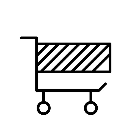 Cart icon vector isolated on white background, Cart transparent sign , line or linear sign, element design in outline style Archivio Fotografico - 111604883