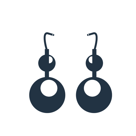 Earring icon vector isolated on white background, Earring transparent sign 일러스트