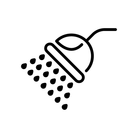 Shower icon vector isolated on white background, Shower transparent sign , line and outline elements in linear style