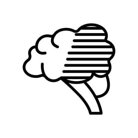 Brain icon vector isolated on white background, Brain transparent sign , line and outline elements in linear style Ilustracja