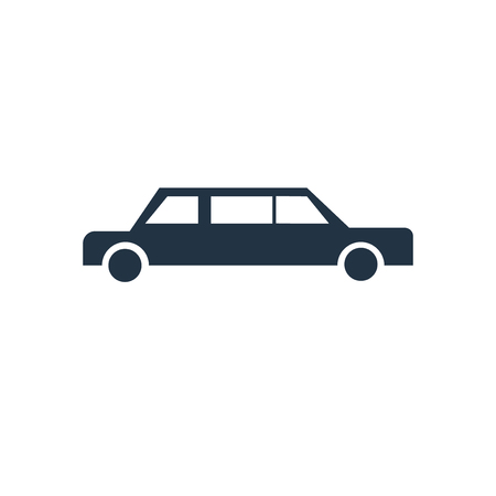 Limousine icon vector isolated on white background, Limousine transparent sign