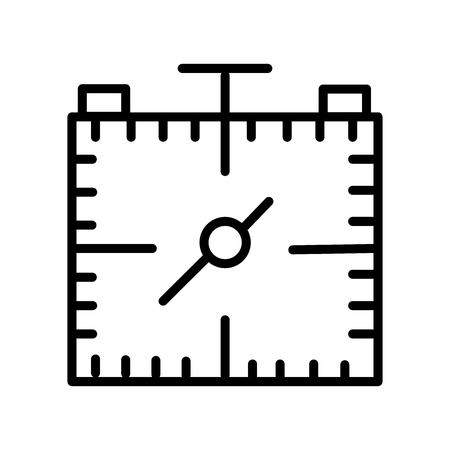 Stopwatch icon vector isolated on white background, Stopwatch transparent sign , line and outline elements in linear style