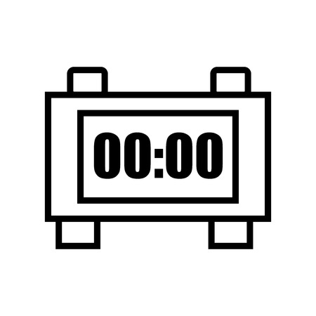 Alarm clock icon vector isolated on white background, Alarm clock transparent sign , line and outline elements in linear style Ilustrace