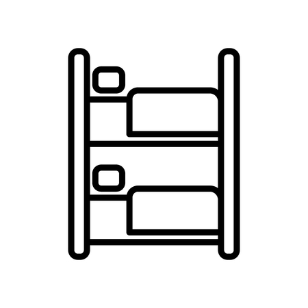 Bunk icon vector isolated on white background, Bunk transparent sign , line and outline elements in linear style Illustration