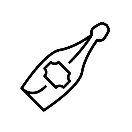 Champagne icon vector isolated on white background, Champagne transparent sign , line and outline elements in linear style
