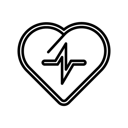 Cardiogram icon vector isolated on white background, Cardiogram transparent sign , line and outline elements in linear style Ilustrace