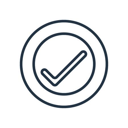 Vecteur d'icône de vérification isolé sur fond blanc, signe transparent de vérification