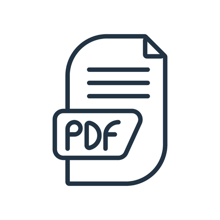 Pdf icon vector isolated on white background, Pdf transparent sign