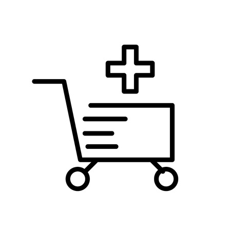 Cart icon vector isolated on white background, Cart transparent sign , line or linear sign, element design in outline style