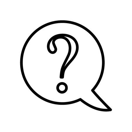 Domanda icona vettoriale isolato su sfondo bianco, segno trasparente domanda, linea o segno lineare, elemento di design di una struttura