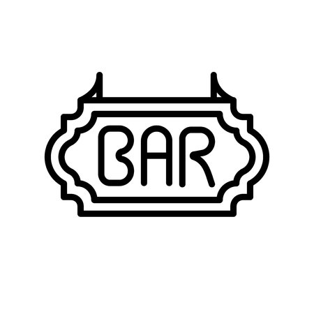 Bar icon vector isolated on white background, Bar transparent sign , line and outline elements in linear style 向量圖像