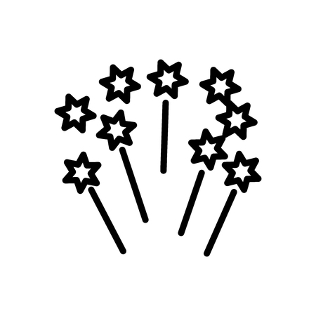 Fireworks icon vector isolated on white background, Fireworks transparent sign , line and outline elements in linear style Illustration