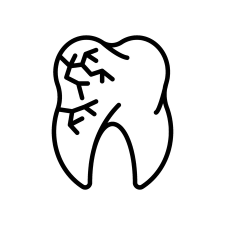 Molar icon vector isolated on white background, Molar transparent sign , line and outline elements in linear style
