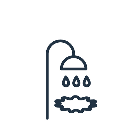 Shower icon vector isolated on white background, Shower transparent sign Illustration