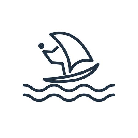 Windsurf icon vector isolated on white background, Windsurf transparent sign Illustration