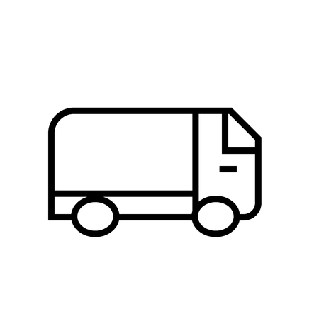 Truck icon vector isolated on white background, Truck transparent sign , line or linear sign, element design in outline style
