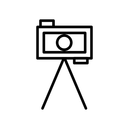 Tripod icon vector isolated on white background, Tripod transparent sign , line and outline elements in linear style Stock fotó - 111605002