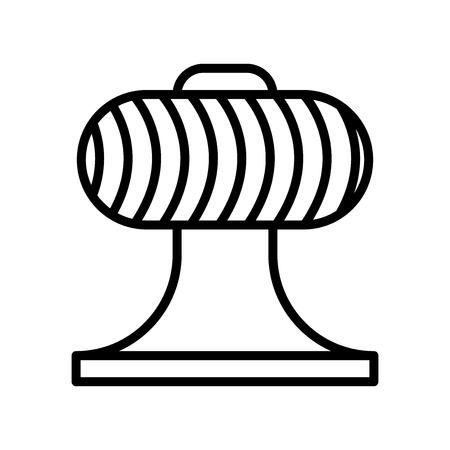 Ventilator Symbol Vektor isoliert auf weißem Hintergrund, Ventilator transparentes Zeichen, Linien- und Umrisselemente im linearen Stil