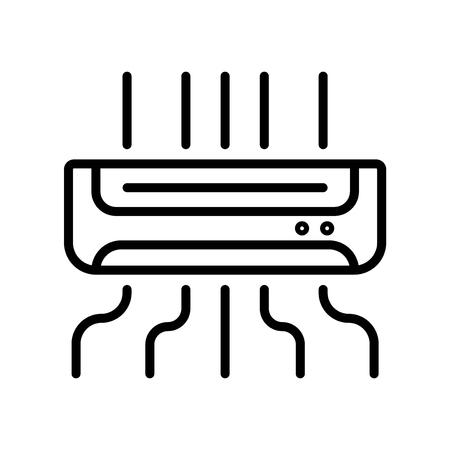 Vecteur d'icône de climatiseur isolé sur fond blanc, éléments de signe, de ligne et de contour transparents de climatiseur dans un style linéaire Vecteurs